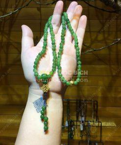 Chuỗi Tràng 108 Hạt Ngọc Bích Nephrite Jade 6mm VIP (VNB-CC094)