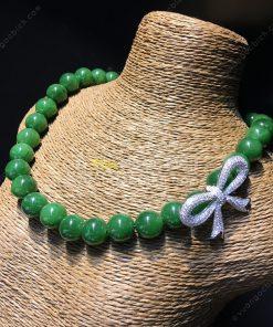 Chuỗi Vòng Cổ Ngọc Bích Nephrite Jade 10mm VIP (VNB-CC088)