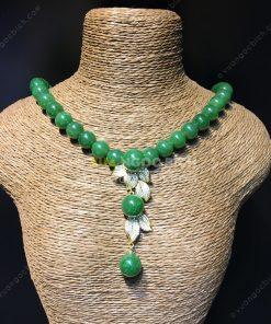 Chuỗi Vòng Cổ Ngọc Bích Nephrite Jade 10mm VIP (VNB-CC090)