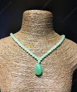 Chuỗi Vòng Cổ Ngọc Bích Nephrite Jade 4mm VIP (VNB-CC092)
