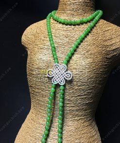Chuỗi Vòng Cổ Ngọc Bích Nephrite Jade 6mm VIP (VNB-CC091)
