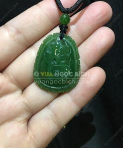 Mặt Dây Chữ Phúc Ngọc Bích Nephrite Jade (VNB-MD226)