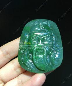Mặt Dây Quan Công Ngọc Bích Nephrite Jade(VNB-MD220)