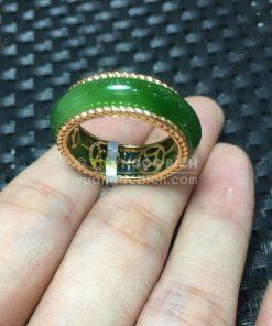 Nhẫn Bầu Ngọc Bích Nephrite Jade (VNB-NN048-2)