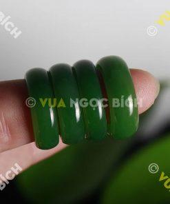 Nhẫn Bầu Ngọc Bích Nephrite Jade VIP (NN030-2)