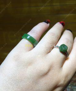 Nhẫn Ngọc Bích Nephrite Jade (VNB-NN022-2)