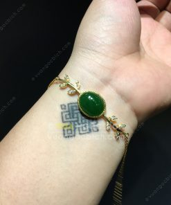 Lắc Tay Ngọc Bích Nephrite Jade (VT072)