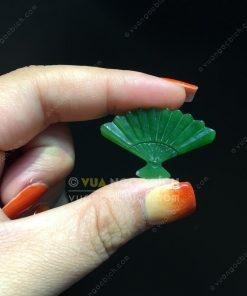 Mặt Dây Chiếc Quạt Ngọc Bích Nephrite Jade(VNB-MD221)