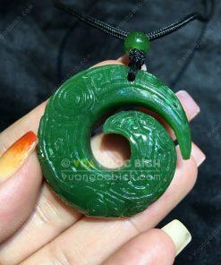 Mặt Ngọc Bích Nephrite Jade (VNB-MD244)