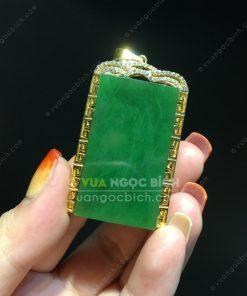 Mặt Dây Ngọc Bích Nephrite Jade (VNB-MD227-1)
