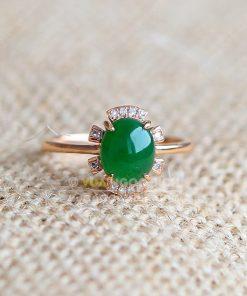 Nhẫn Ngọc Bích Nephrite Jade (VNB-NN108)
