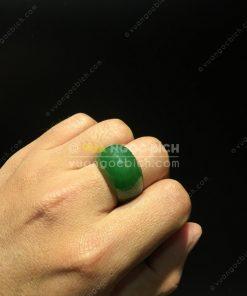 Nhẫn Yên Ngựa Ngọc Bích Nephrite Jade (VNB-NN109)