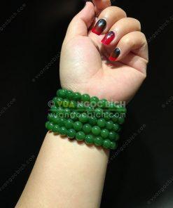 Vòng Tay Ngọc Bích Nephrite Jade 10mm VIP (VNB-VT050-2)