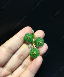 Mặt Dây Hoa 5 Cánh Ngọc Bích Nephrite Jade VIP (VNB-MD326)