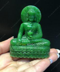 Tượng Phật Hoà Bình Ngọc Bích Nephrite Jade (VNB-TUONG002)