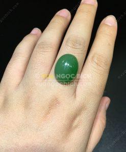 Mặt đá trang sức Ngọc Bích Nephrite Jade (VNB-MDTS005)