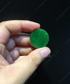 Mặt đá trang sức Ngọc Bích Nephrite Jade (VNB-MDTS007)