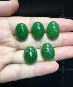 Mặt đá trang sức Ngọc Bích Nephrite Jade (VNB-MDTS008)