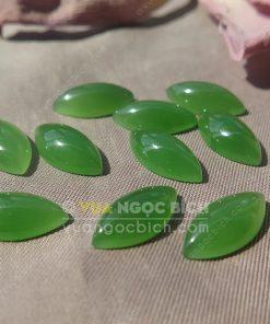 Mặt đá trang sức Ngọc Bích Nephrite Jade (VNB-MDTS012)