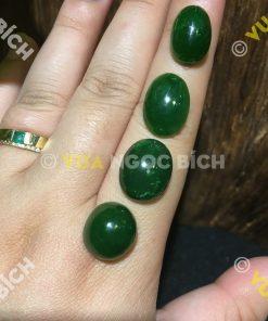 Mặt đá trang sức Ngọc Bích Nephrite Jade (VNB-MDTS014)
