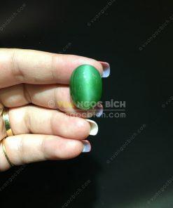 Mặt đá trang sức Ngọc Bích Nephrite Jade (VNB-MDTS015)