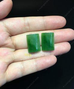 Mặt đá trang sức Ngọc Bích Nephrite Jade (VNB-MDTS016)
