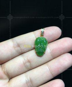 Mặt Dây Chiếc Lá Ngọc Bích Nephrite Jade (VNB-MD177-2)