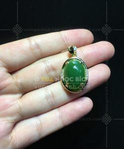 Mặt Dây Ngọc Bích Nephrite Jade (VNB-MD291-2)