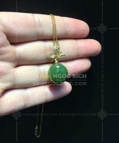 Mặt Dây Ngọc Bích Nephrite Jade (VNB-MD146-3)