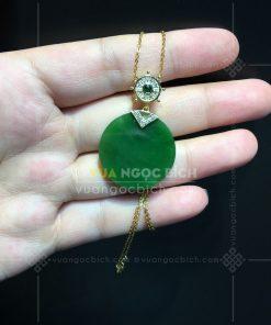 Mặt Dây Ngọc Bích Nephrite Jade (VNB-MD252-1)