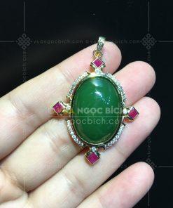 Mặt Dây Ngọc Bích Nephrite Jade (VNB-MD337)