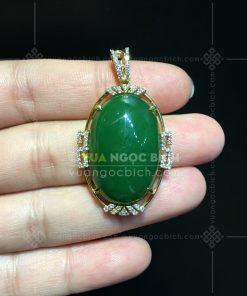 Mặt Dây Ngọc Bích Nephrite Jade (VNB-MD338)