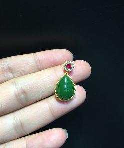 Mặt Dây Ngọc Bích Nephrite Jade (VNB-MD358)