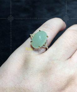Nhẫn Ngọc Bích Trắng Nephrite Jade (VNB-NN166)