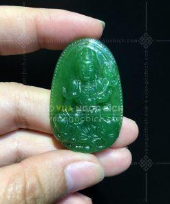 Phật Bản Mệnh Phổ Hiền Bồ Tát Ngọc Bích Nephrite Jade (VNB-MD094-7)