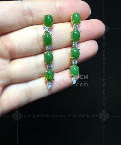 Bông Tai Ngọc Bích Nephrite Jade (VNB-BT248)
