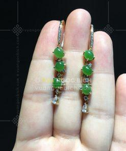 Bông Tai Ngọc Bích Nephrite Jade (VNB-BT249)