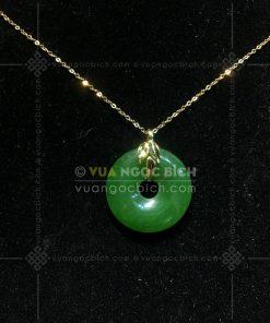 Mặt Dây Đồng Điếu Ngọc Bích Nephrite Jade (VNB-MD156-6-1)