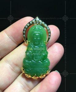 Mặt Dây Phật Bà Quan Âm Ngọc Bích Rusia VVIP (VNB-MD206-4)