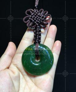 Mặt Đồng Điếu Ngọc Bích Nephrite Jade (VNB-MD008-2)