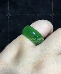 Nhẫn Bầu Ngọc Bích Nephrite Jade VIP (VNB-NN030-3)