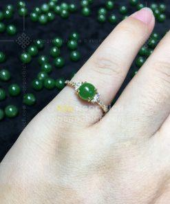 Nhẫn Ngọc Bích Nephrite Jade (VNB-NN162)