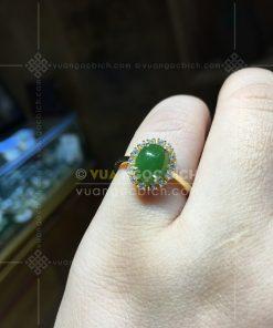 Nhẫn Ngọc Bích Nephrite Jade (VNB-NN163)